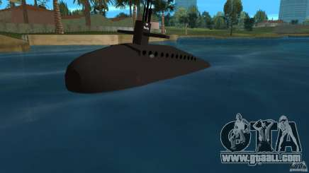 Vice City Submarine without face for GTA Vice City
