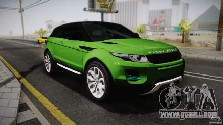 Land Rover Range Rover Evoque v1.0 2012 for GTA San Andreas
