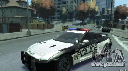 Nissan GT-R R35 Police for GTA 4