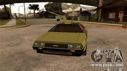 Golden DeLorean DMC-12 for GTA San Andreas