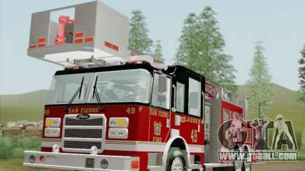 Pierce Rear Mount SFFD Ladder 49 for GTA San Andreas