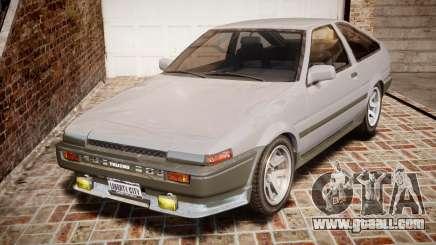 Toyota Sprinter Trueno 1986 for GTA 4