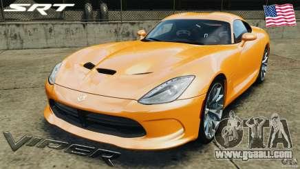 SRT Viper GTS 2013 for GTA 4