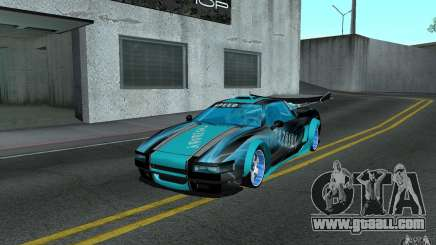 Baby blue Infernus for GTA San Andreas
