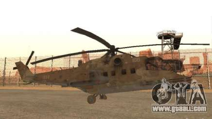 Mi-24 p Desert Camo for GTA San Andreas