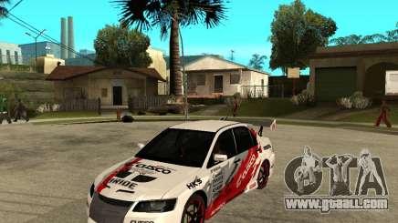 Lancer Evolution VIII, the Americans intervened for GTA San Andreas