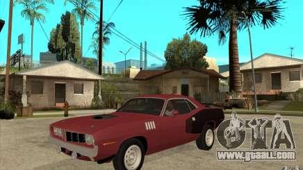 Plymouth Cuda 426 for GTA San Andreas