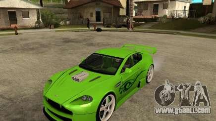 Aston Martin Vantage V8 - Green SHARK TUNING! for GTA San Andreas
