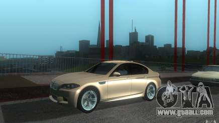 2012 BMW M5 silver for GTA San Andreas