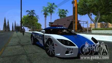 Koenigsegg CCX Police for GTA San Andreas