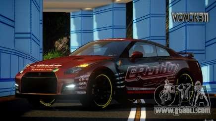Nissan GT-R Black Edition GReddy for GTA 4