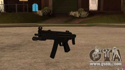 New MP5 with flashlight for GTA San Andreas