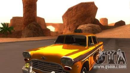 Checker Marathon Yellow CAB for GTA San Andreas