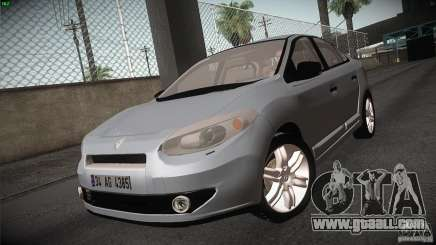 Renault Fluence for GTA San Andreas