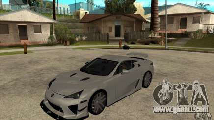 Lexus LFA 2010 for GTA San Andreas