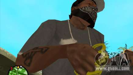 Golden brass knuckles for GTA San Andreas
