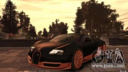Bugatti Veyron Super Sport 2010 for GTA 4