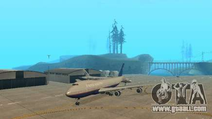 Boeing 747-100 United Airlines for GTA San Andreas