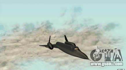 SR-71A BLACKBIRD BETA for GTA San Andreas