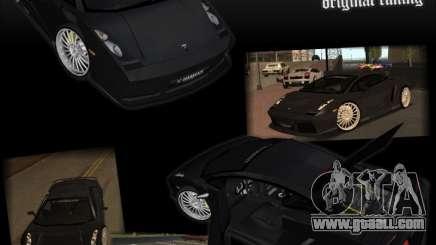 Lamborghini Gallardo чёрный for GTA San Andreas