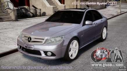 Mercedes-Benz C180 CGi Classic Special 2009 for GTA 4
