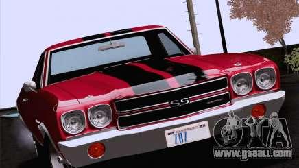 Chevrolet El Camino SS 70 Fixed Version for GTA San Andreas