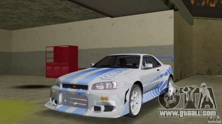 Nissan Skyline R-34 2Fast2Furious for GTA Vice City