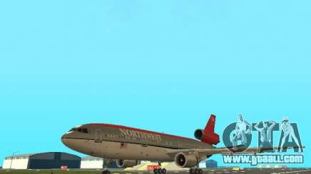 McDonell Douglas DC 10 Nortwest Airlines for GTA San Andreas