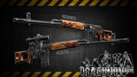Dragunov sniper rifle v 1.0 for GTA San Andreas