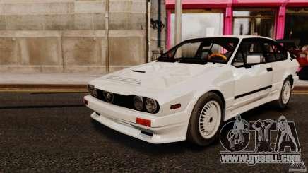 Alfa Romeo GTV6 1986 for GTA 4