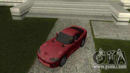 Dodge Viper GTS Coupe серый for GTA San Andreas