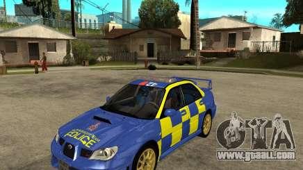 Subaru Impreza STi police for GTA San Andreas