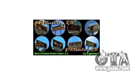 New Cinema Poster mod GTA Vice City for GTA Vice City