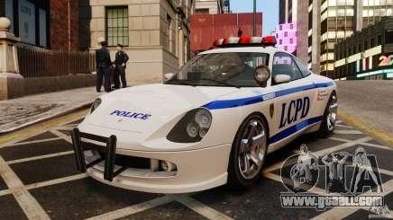 Comet white Police for GTA 4