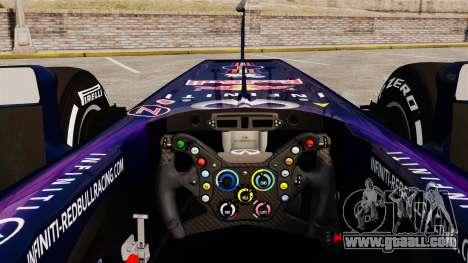 Car, Red Bull RB9 v4 for GTA 4 back view