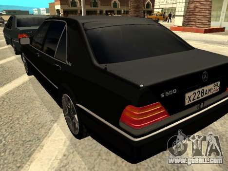 Mercedes-Benz w140 s600 for GTA San Andreas back view