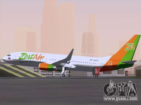 Boeing 737-800 Zest Air for GTA San Andreas back view