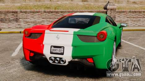 Ferrari 458 Italia 2010 Italian for GTA 4 back left view