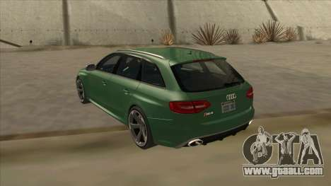 Audi RS4 Avant B8 2013 V2.0 for GTA San Andreas right view