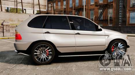 BMW X5 4.8iS v2 for GTA 4 left view