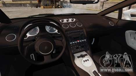 Lamborghini Gallardo 2005 [EPM] Italian for GTA 4 inner view