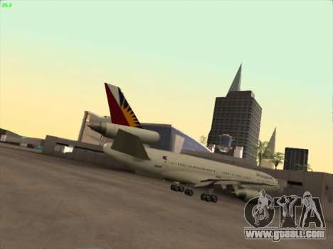 McDonell Douglas DC-10 Philippines Airlines for GTA San Andreas right view