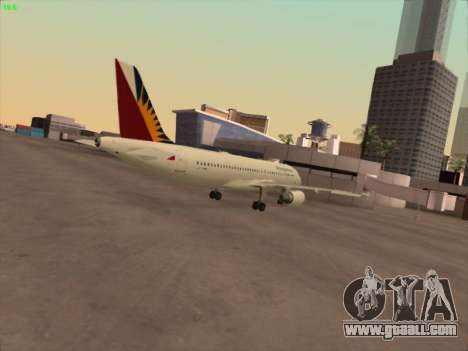 Airbus A320-211 Philippines Airlines for GTA San Andreas right view