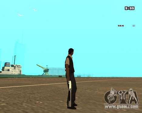 White Chrome Shotgun for GTA San Andreas