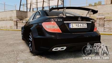 Mercedes-Benz C63 AMG BSAP (C204) 2012 for GTA 4 back left view