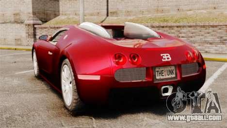 Bugatti Veyron 16.4 for GTA 4 back left view