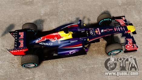 Car, Red Bull RB9 v1 for GTA 4 right view
