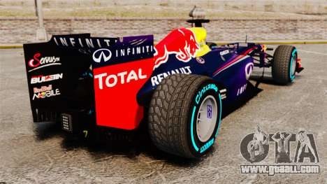 Car, Red Bull RB9 v1 for GTA 4 back left view