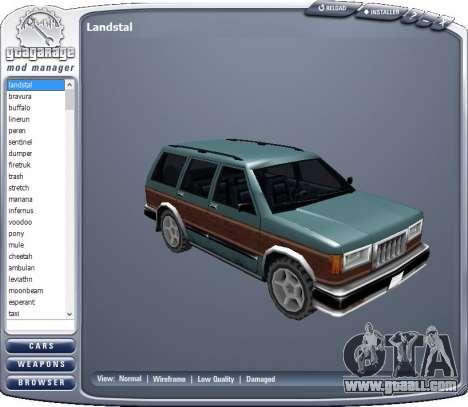 GTA Garage Mod Manager version 1.7 (270805) for GTA San Andreas