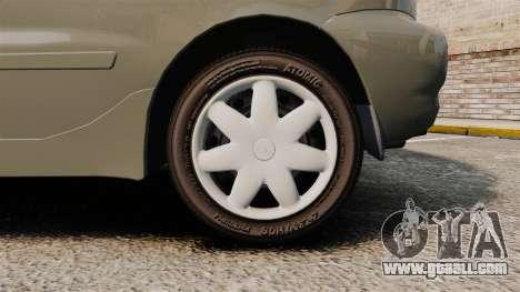 Daewoo Lanos FL 2001 for GTA 4 back view